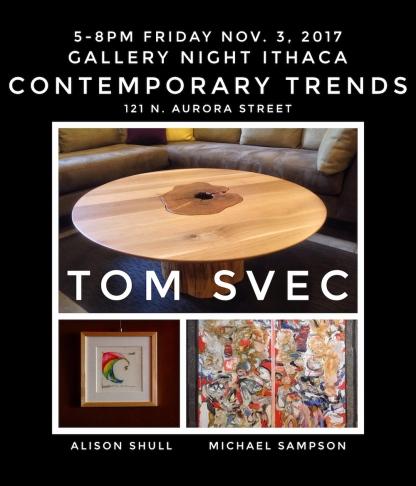 Alison Shull Art at Gallery Night at Contemporary Trends November 3, 2017