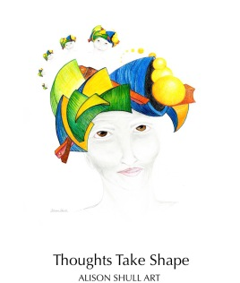 Thoughts Take Shape - pencil & digital drawing ©2017 Alison Shull, prints for sale